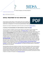 Recommendations for Testing, Managing, And Treating Hepatitis C - InITIAL TREATMENT of HCV INFECTION