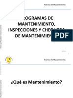 PROGRAMAS DE MANTENIMIENTO, INSPECCIONES Y CHEQUEOS DE MANTENIMIENTO