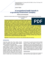 Evaluation of Occupational Health Hazards in Engineering Construction Company