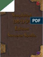 Sorcerer Spells