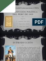 Constitución Política Del Perú de 1839
