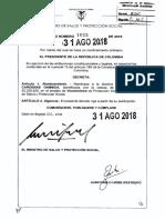 Decreto 1665 Del 31 de Agosto de 2018