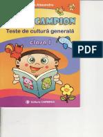Carti Micul Campion Teste de Cultura Generala Clasa 1 Ed Carminis
