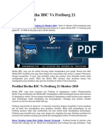Prediksi Hertha BSC vs Freiburg 21 Oktober 2018
