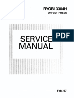 RYOBI 3304H Service Manual