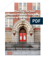 Not Reaching the Door Homeless Students Face Many Hurdles on the Way to School