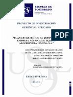 2016 Galarreta Plan Estrategico Al 2020 Para La Empresa