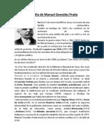 Biografia de Manuel Gonzales Prada (1)