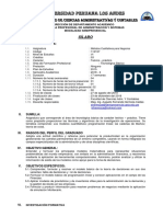 Sílabo de Métodos Cuantitativos Para Negocios 2018-II