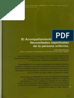 Labor Hospitalaria 2005-4-278 Art03 El Acompanamiento Espiritual
