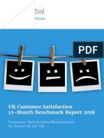 UK Customer Satisfaction 12-Month Benchmark Report 2018