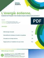 Les Français et l'énergie éolienne - Sondage et enquête 2018