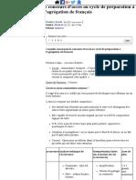 Conseils Concernant Le Concours d'Accès Au Cycle de Préparation à l'Agrégation de Français- 37316