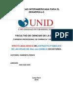 Esquema Proyecto Informe 2018-II