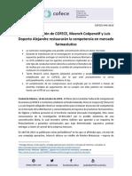 COFECE-044-2018 Se Restauran Condiciones de Competencia en Mercado Farmaceuticovf