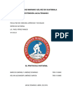 El Protocolo Notarial Trabajo Completo