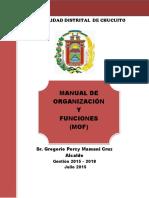 manual de organizaciones y funciones - MOF - distrito de Chucuito
