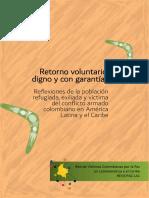 Retorno voluntario, digno y con garantías