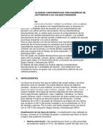 EVALUACIÓN DE ALGUNAS CARATERISTICAS FISICOQUIMICAS DE HARINA EN FUNCION A SU CALIDAD PANADERA
