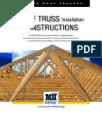 Roof Truss Installation Instructions