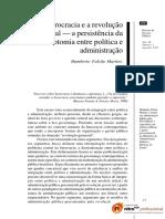 Artigo - Burocracia e a Revolução Gerencial
