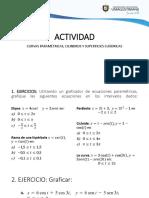 1. Actividad Curvas Paramétricas, Cilindros y Cuádricas (1)