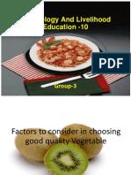 Technology and Livelihood Education -10