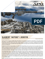 APO SABER M700 308TR Tactical Rifle Brochure