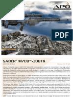 APO SABER M700 308TR Tactical Rifle Brochure