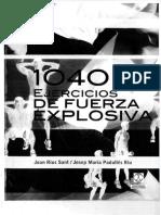 1040 EJERCICIOS DE FUERZA EXPLOSIVA (joan rius sant) $ 6.80 g