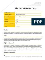 Maestria en Farmacologia