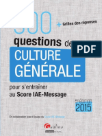 300 Questions de Culture Generale