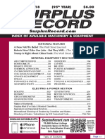 NOVEMBER 2018 Surplus Record Machinery & Equipment Directory