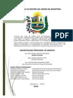 Calculo de Riesgo de Inundacion Hullpuhuaycco_abancay
