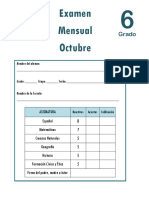 Octubre - 6to Grado - Examen Mensual (2018-2019).pdf