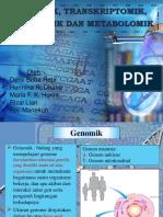 Genomik, Transkriptomik, Proteomik & Metabolomik