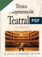 Técnica y Representación Teatrales