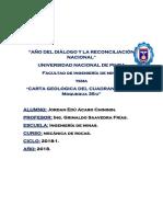 Carta Geologica Del Cuadrangulo de Moquegua 35-u.