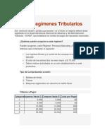 Los Regímenes Tributarios