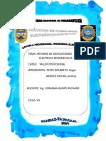 Informe Instalacion Electrica Residencial