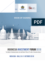 BOOK OF SIGNING INDONESIA INVESTMENT FORUM 2018