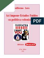 Guillermo Lora_Asi impone EEUU su politica imperialista
