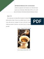 Anexo E. Métodos de preparación de Café filtrado