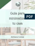 Guía Para Minimalizar Tu Casa
