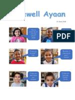 Farewell Ayaan from friends