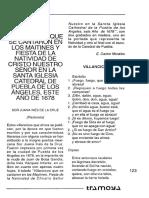 Villancicos Que Se Cantaron en La Fiesta de Navidad de Puebla en 1678