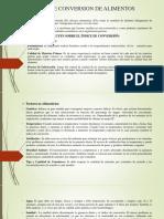 Indice de Conversion de Alimentos