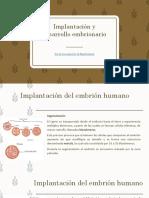 Implantacion y Desarrollo Embrionario