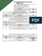 Registro Matriz Ident y Eval Aspectos Ambientales 2018