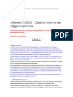 Control Interno en Organizacion